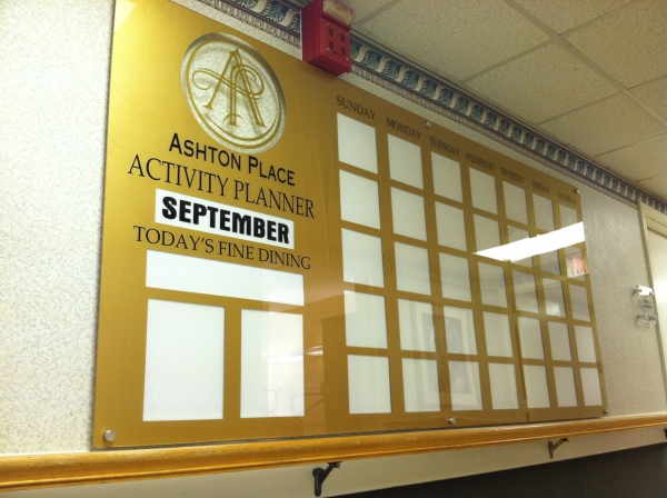 The 8'x4' Mounted Activity Calendar