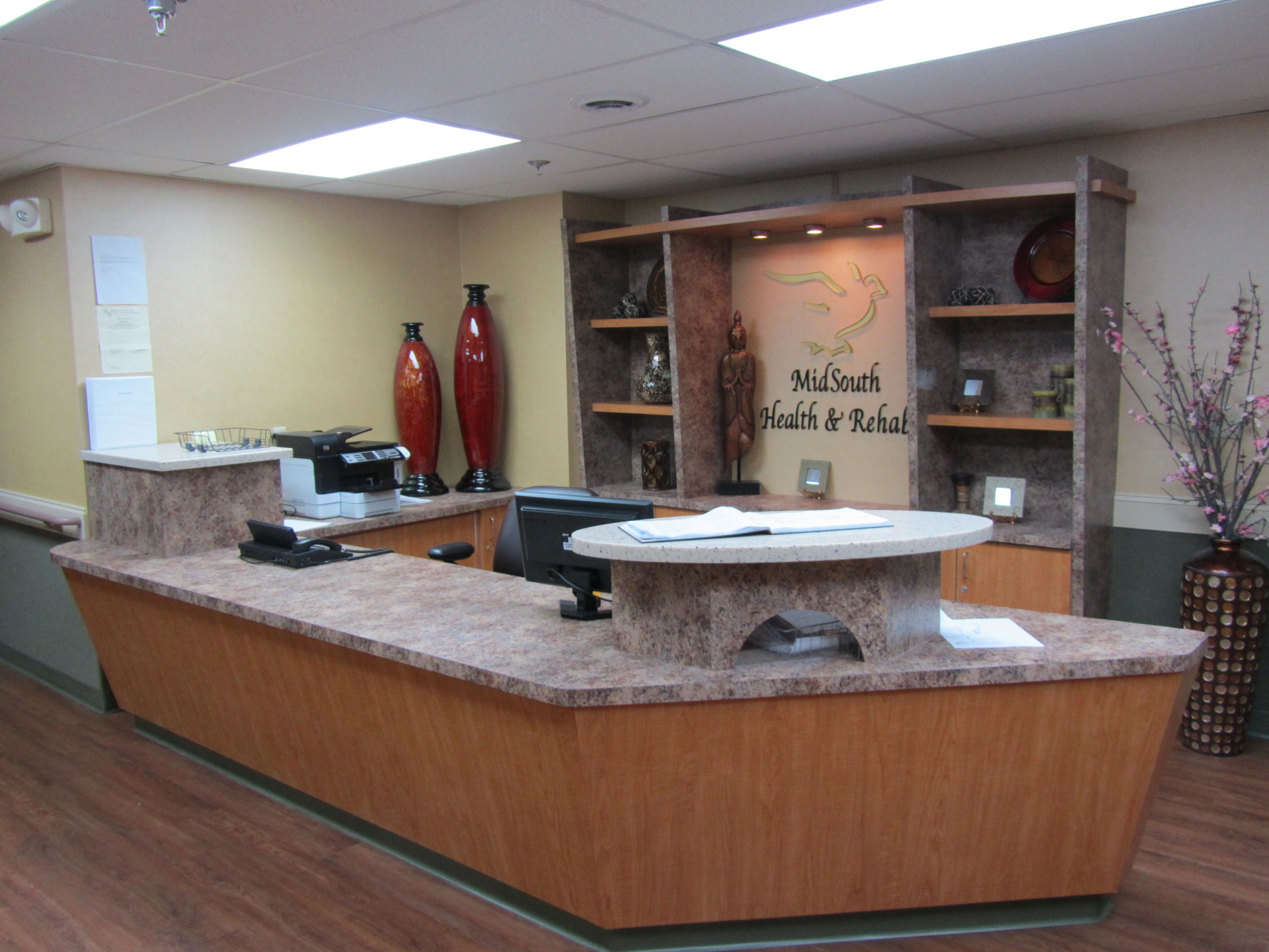 Remodeled Facility Reception Desk