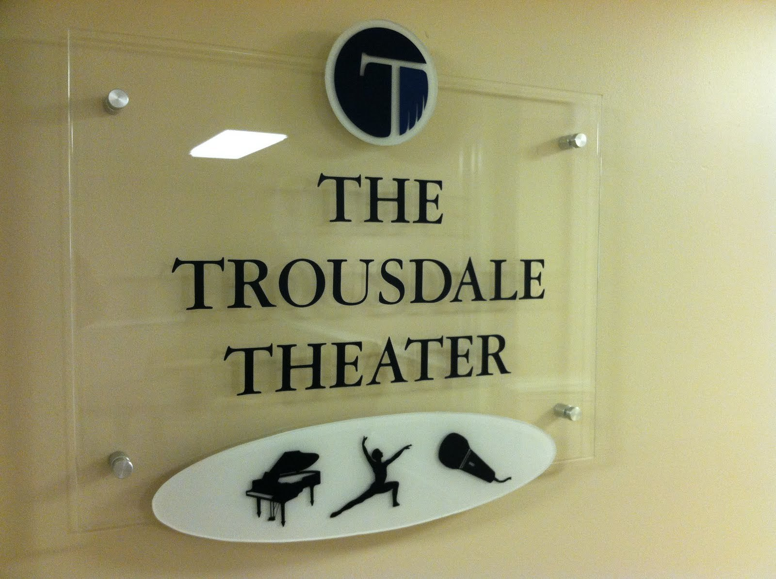 School Theater Entrance Sign