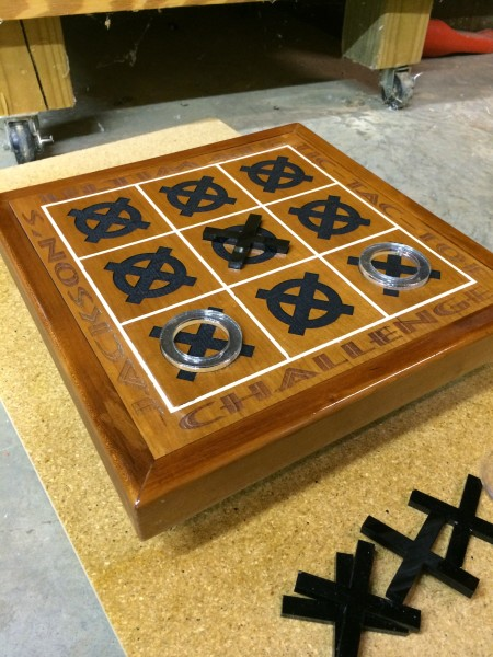 "Personalized ""Tic Tac Toe"" board"